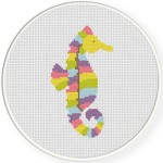 Pretty Seahorse Cross Stitch Illustration