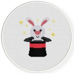 Rabbit In Hat Cross Stitch Illustration