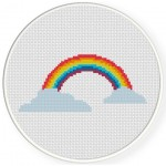 Rainbow Cross Stitch Illustration