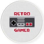 Retro Gamer Cross Stitch Illustration