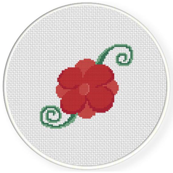 Rose Cross Stitch Pattern – Daily Cross Stitch