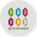 Rupees Cross Stitch Illustration