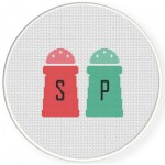 Salt And Pepper Cross Stitch Illustration