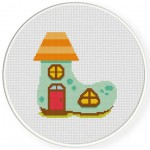 Shoe House Cross Stitch Illustration
