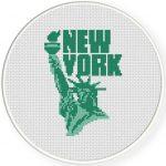 Statue of Liberty Cross Stitch Illustration