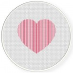 Striped Heart Cross Stitch Illustration
