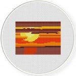 Sunset Cross Stitch Illustration