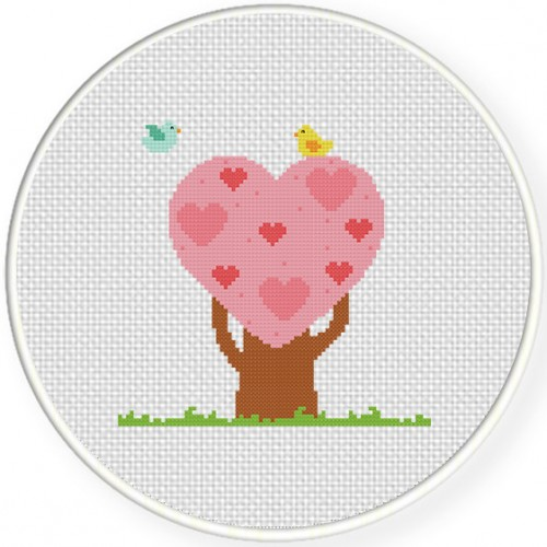 Tree Heart Cross Stitch Pattern Daily Cross Stitch