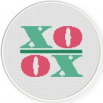 Xoxo Cross Stitch Illustration
