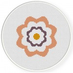 1 Simple Flower Cross Stitch Illustration
