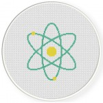 Atom Cross Stitch Illustration