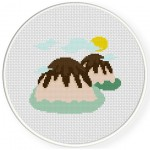 Chocolate Hills Cross Stitch Illustration