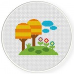 Fantasy Land Cross Stitch Illustration