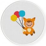 Fox Boy Cross Stitch Illustration