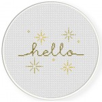 Hello Cross Stitch Illustration