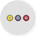 I Love You 143 Cross Stitch Illustration
