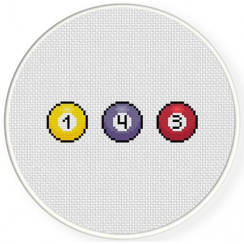 I Love You 143 Cross Stitch Illustration
