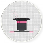 Magic Wand and Hat Cross Stitch Illustration