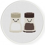 Salt & Pepper Cross Stitch Illustration