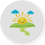 Sunshine Cross Stitch Illustration