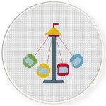 Swing ride Cross Stitch Illustration