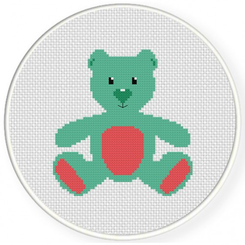 Teddy Cross Stitch Illustration