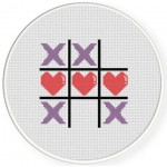 Tic Tac Toe Cross Stitch Illustration