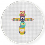 Totem Owl Cross Stitch Illustration