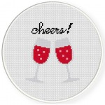 Two Cheers Cross Stitch Illustration