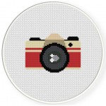 Vintage Camera Cross Stitch Illustration