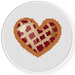 Waffle Heart Cross Stitch Illustration