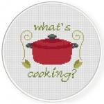 Whats Cooking Cross Stitch Illustration
