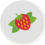 Yummy Strawberry Cross Stitch Illustration