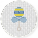 Baby Rattle Cross Stitch Illustration