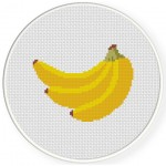 Banana Cross Stitch Illustration