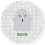 Boo Cross Stitch Illustration