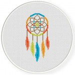 Color Dream Catcher Cross Stitch Illustration