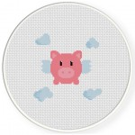 Cutey Piggy Cross Stitch Illustration