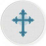 Holy Cross Cross Stitch Illustration