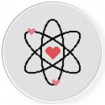 I Love my Nerd Cross Stitch Illustration