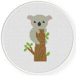 Koala On A Tree Cross Stitch Illustration