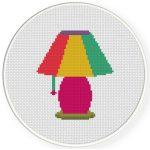 Lamp Cross Stitch Illustration