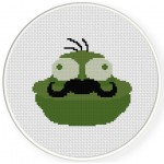 Mr Frog Cross Stitch Illustration