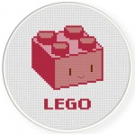 Mr Lego Cross Stitch Illustration