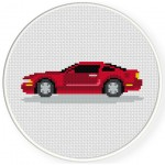 Mustang Cross Stitch Illustration