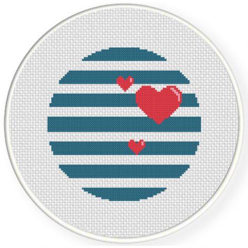 Nautical Love Cross Stitch Illustration