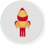 Rocket Cross Stitch Illustration