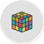 Rubik's Cube Cross Stitch Illustration