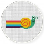 Speedy Snail Cross Stitch Illustration