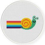 Speedy Snail Cross Stitch Illustration